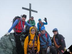 Auf dem Gipfel des Allalinhorns 4027 m